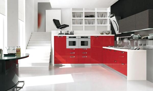 Cucine moderne rosse camere da letto moderne bianche e nere