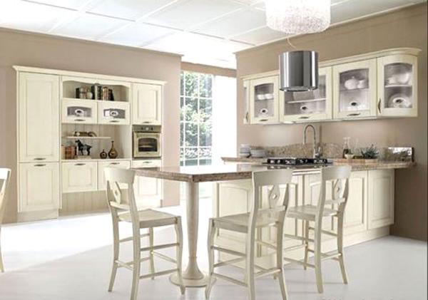 Cucina Elegante Bicolore Iris: Cucine bianche e argento ...