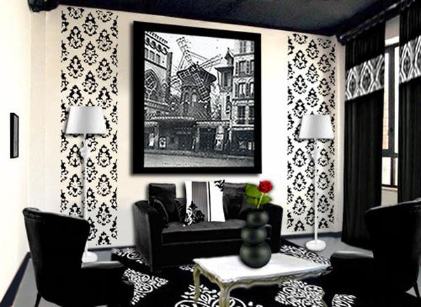 salone in stile barocco bianco e nero guarda queste 8 idee. Black Bedroom Furniture Sets. Home Design Ideas