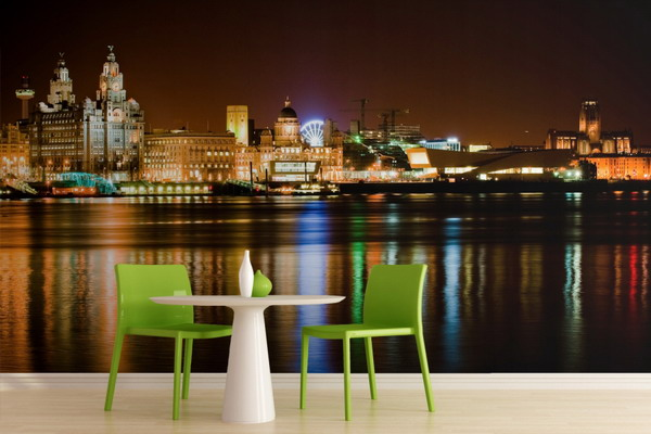 Amazing-Night-City-Skyline-Murals-for-Modern-Dining-Room-Interior