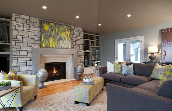 Chair-and-ottoman-in-toile-fabric-enliven-the-contemporary-living-room