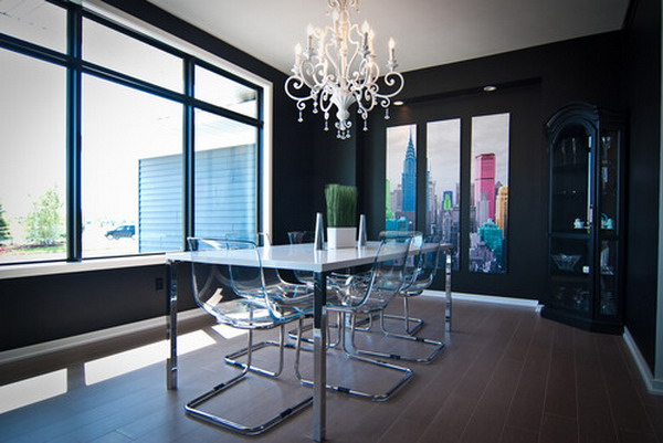Colorful-Modern-City-Skyline-Dining-Room-Wall-Murals-Ideas