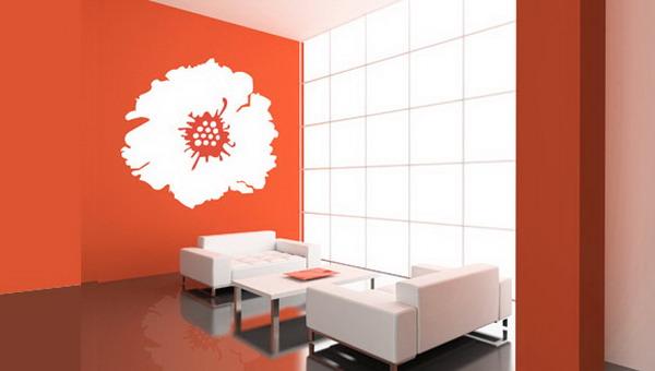 Floral-Modern-Living-Room-Wall-Sticker-Design
