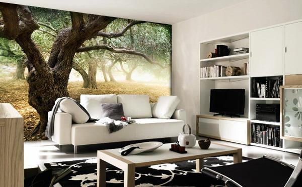 Full living room murals ideas for Full living room designs