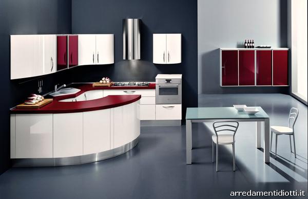 Cucina rossa vi siete innamorati del rosso per la cucina - Disposizione mobili cucina ...