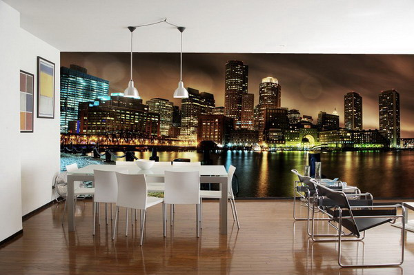 Modern-Wallpaper-Dining-Room-Design