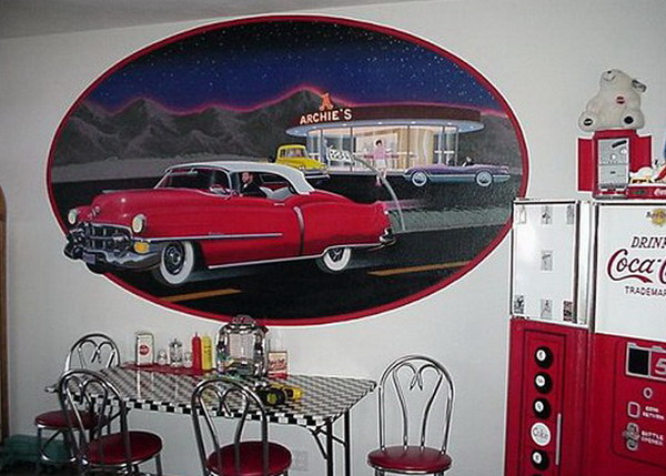 Retro-Wall-Murals-for-Dining-Room-Style