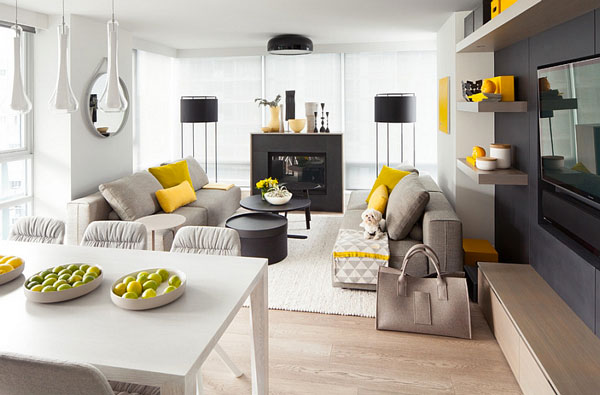 Throw-in-a-few-yellowish-greens-to-make-the-living-room-in-grey-even-more-appealing