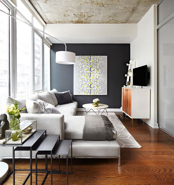 Warm-textiles-in-grey-and-beautiful-wall-art-standout-in-this-refreshing-living-room