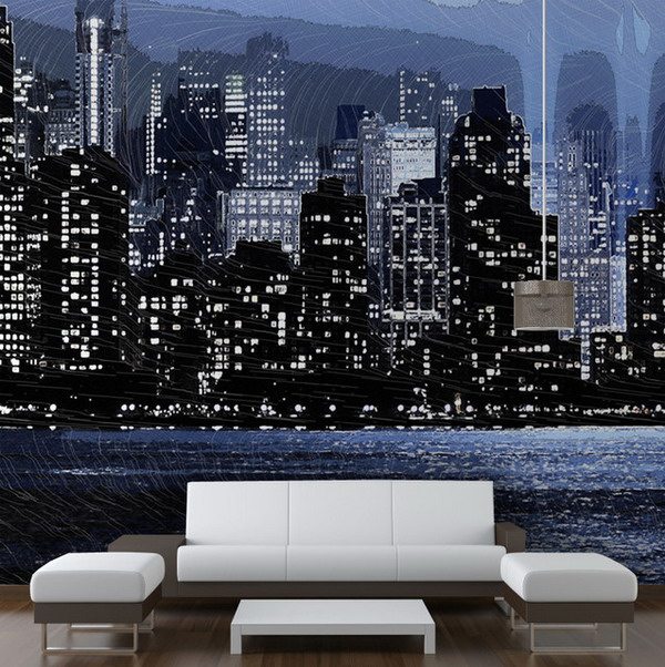 Wonderful-Living-Room-New-York-Skyline-Wall-Murals-Art-Design