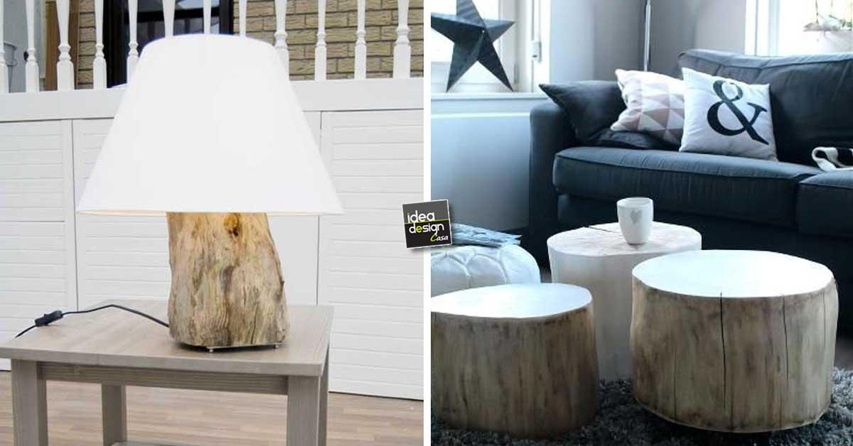 Tronco design quando un tronco diventa design 30 idee for Cera arredamenti