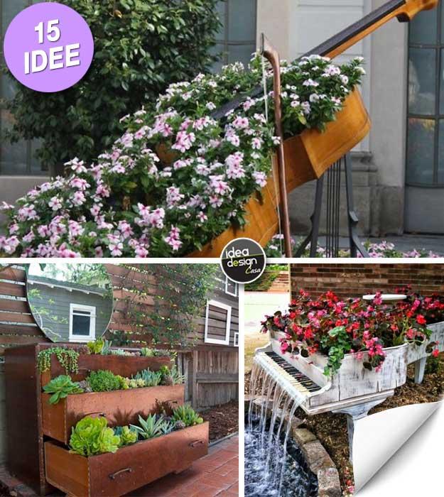 Arredo giardino riutilizzare i vecchi mobili e decorare for Oggetti per abbellire il giardino