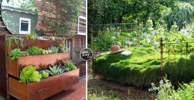 Arredo giardino riutilizzare i vecchi mobili e decorare - Oggetti per giardino ...