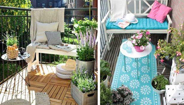 Piccolo balcone 15 idee per arredarlo con stile for Idee creative per arredare
