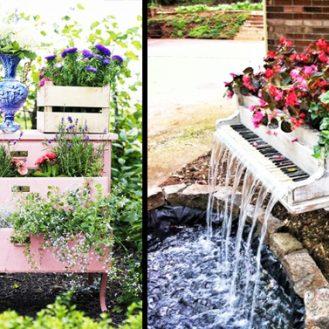 Arredo giardino: riutilizzare i vecchi mobili e decorare un giardino ...