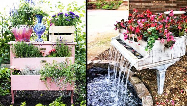 Arredo giardino riutilizzare vecchi mobili per il tuo giardino - Happy casa arredo giardino ...