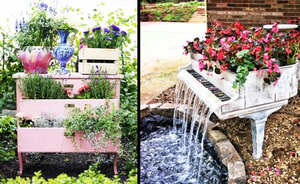 Arredo giardino riutilizzare vecchi mobili per il tuo for Arredo giardino design