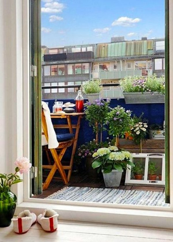 balcone blu