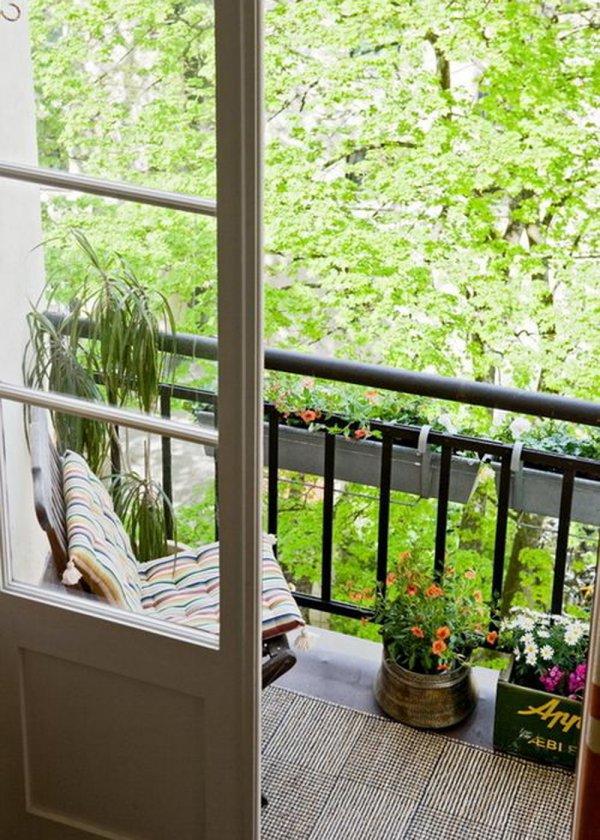 balcone rilassante