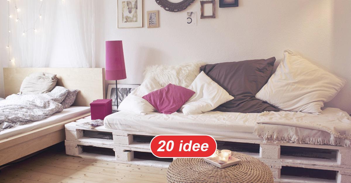Mobili Con Pallets : Divano con i pallet: costruire un divano con i bancali 20 idee