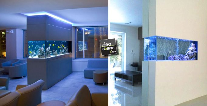 Acquario dividere 2 ambienti con un acquario lasciatevi - Acquario in casa ...
