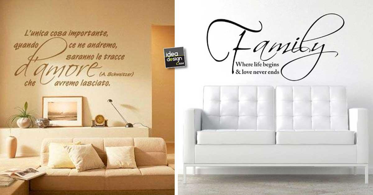 Scritte Decorative Muro.Frasi Murali Abbinare Una Scritta Al Divano 22 Idee Per