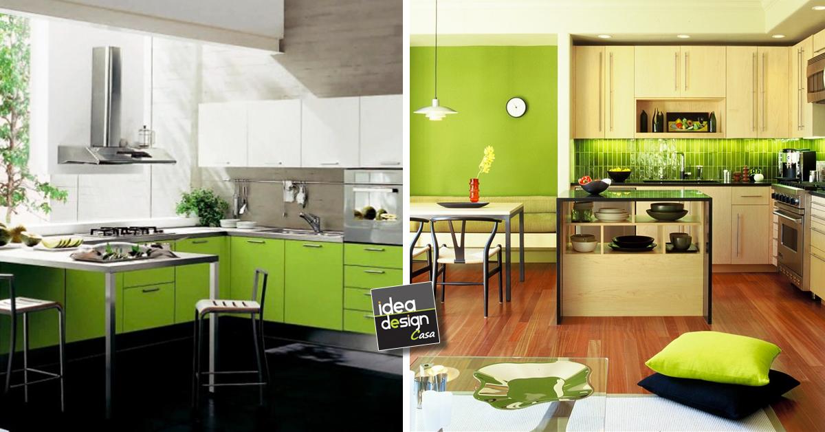 Idee design di verde per la tua cucina for Design della casa verde