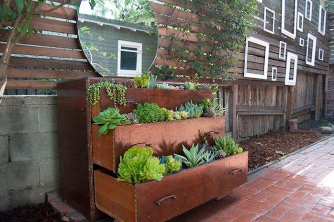 Arredo giardino riutilizzare vecchi mobili per il tuo - Idea design casa ...