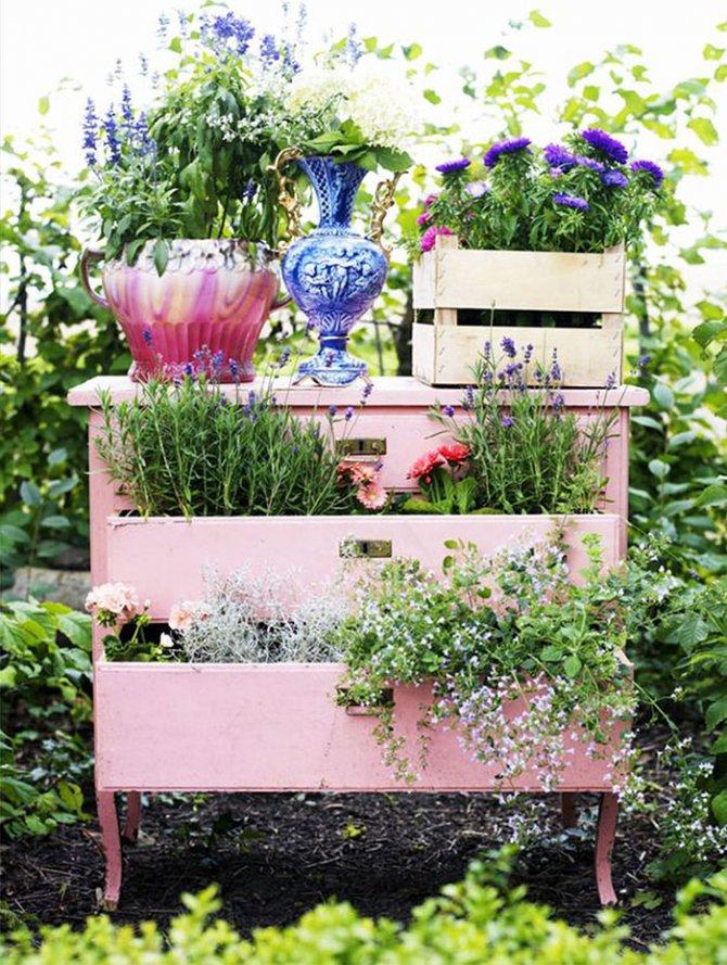 Ben noto Arredo giardino: riutilizzare i vecchi mobili e decorare un  YZ33