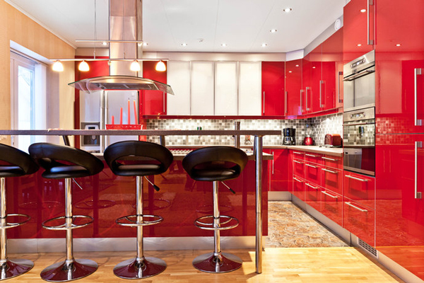 Cucina rossa vi siete innamorati del rosso per la cucina - Cucine colorate moderne ...