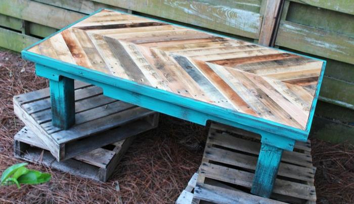 Transformer une palette en une superbe table basse 60 id es - Grosses roulettes pour table basse ...