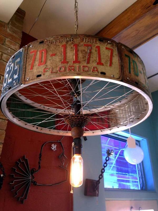lampadario ruota bicicletta