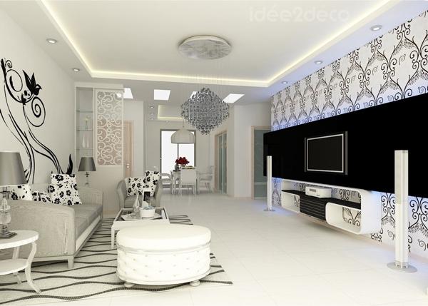 salone in stile barocco bianco e nero... guarda queste 8 idee! - Arredare In Bianco E Nero