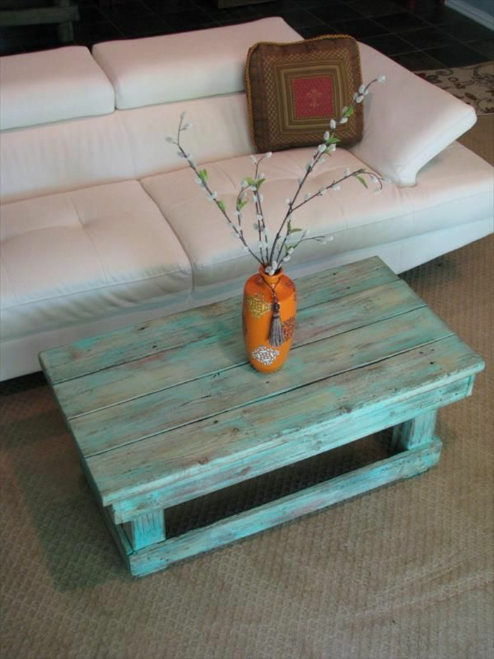 Interesting Fabriquer Une Table Basse Design Table Basse Avec Palette De Chantier U Phaichicom