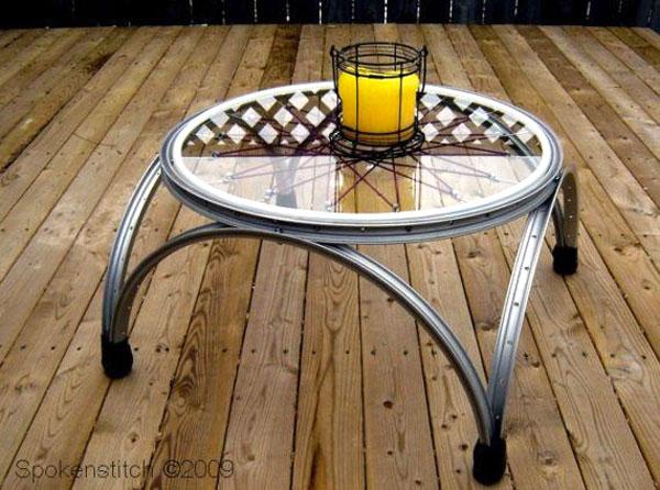tavolino ruota bicicletta