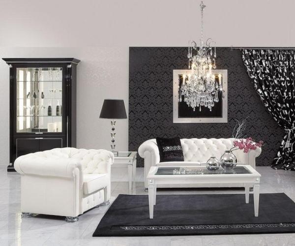 Salone in stile barocco bianco e nero guarda queste 8 idee for Arredamento stile barocco moderno