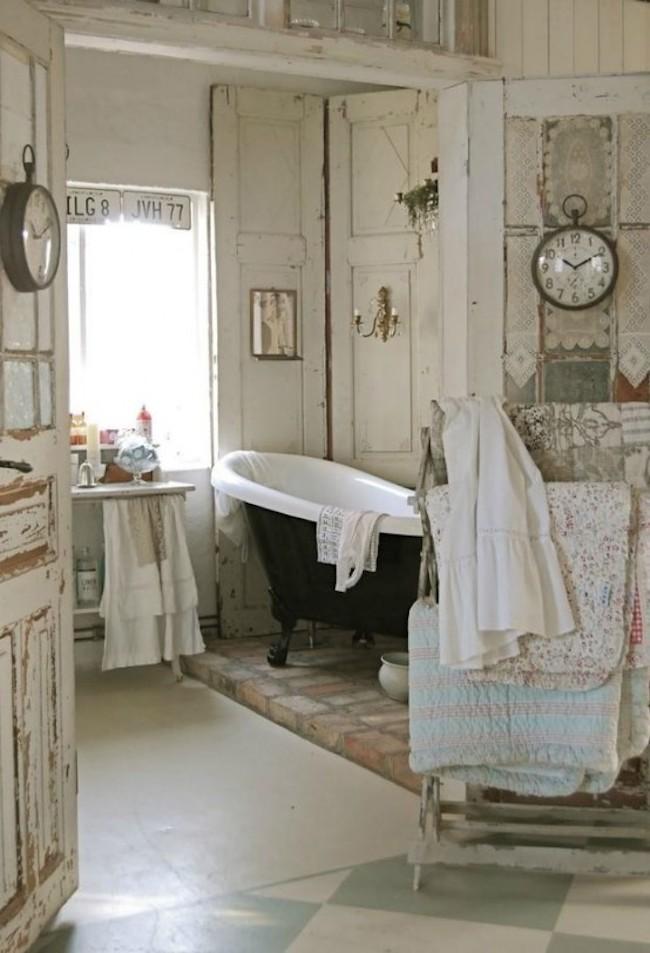 Bagno vintage 18 bagni stile chic vintage per ispirarvi - Mobili bagno retro ...