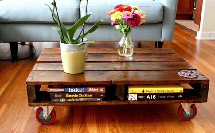 table-basse-en-palette-salon-jardin-fleurs-livres1