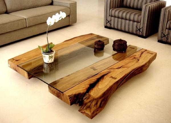 tavolino basso tronco