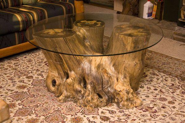 tavolino con tronco