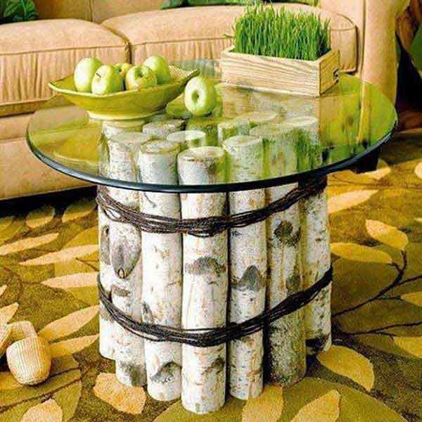 base tronco tavolino