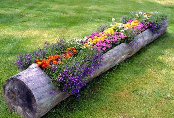tronco con fiori