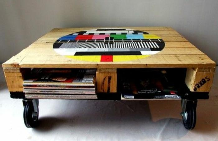 Transformer une palette en une superbe table basse 60 id es - Transformer une palette ...