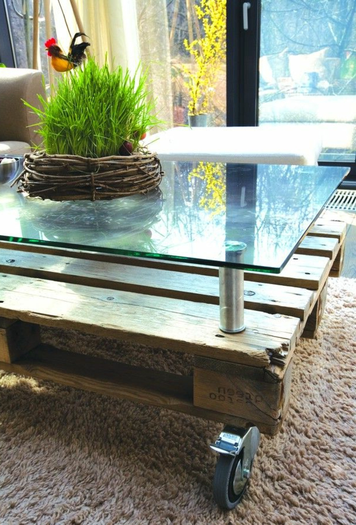 pallet table - Idee Table Basse Palette