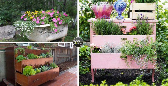 Arredo giardino riutilizzare i vecchi mobili e decorare un giardino 15 idee - Happy casa arredo giardino ...
