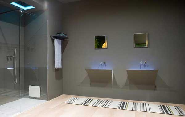 Arredo bagno led illuminare il bagno con i led - Illuminare il bagno ...