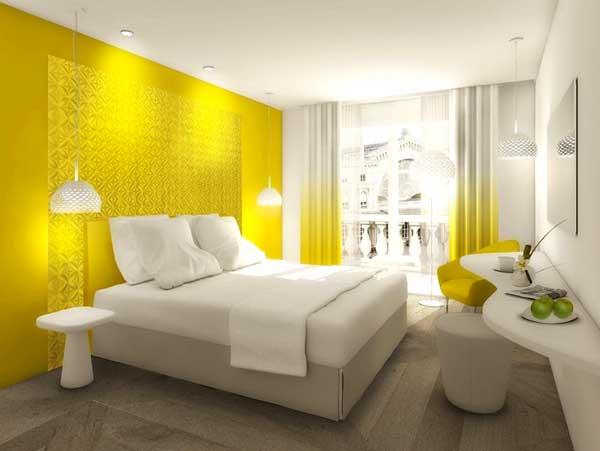 Arredare con il giallo un colpo di sole dentro casa - Camera da letto gialla ...