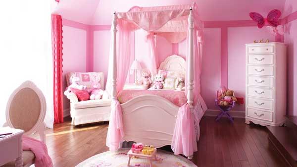 Idee cameretta bimba arredare una bella cameretta rosa - Camere da principesse ...