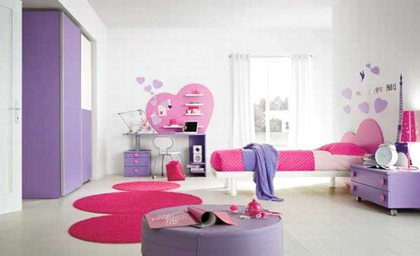 cameretta rosa e bianca