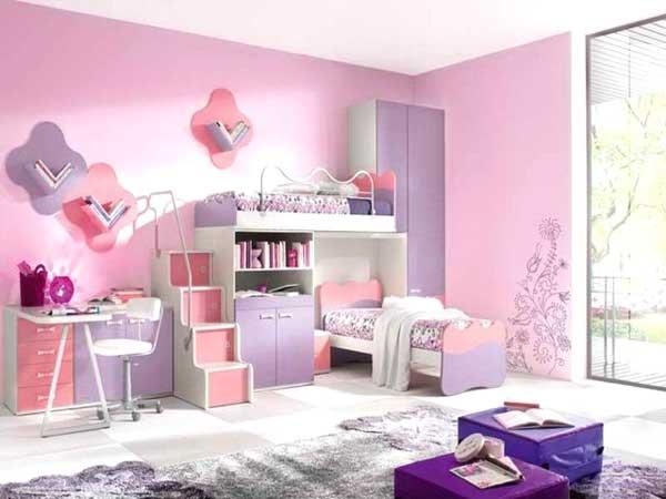 Idee cameretta bimba arredare una bella cameretta rosa - Camera bimba ikea ...